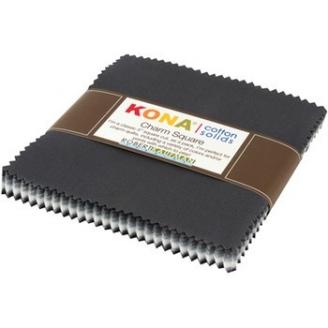 Charm pack de tissus unis Kona - Tempête