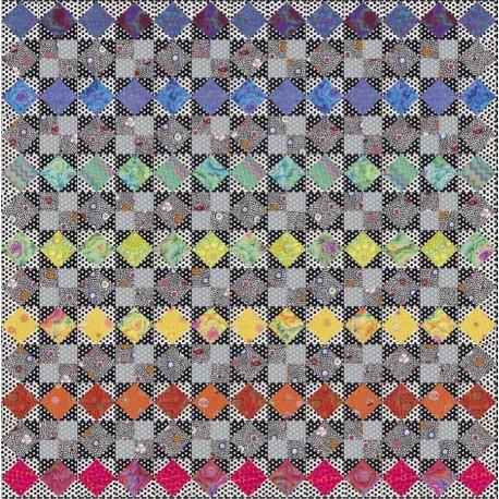 Kaffetastic Rainbow star : Quilt Along