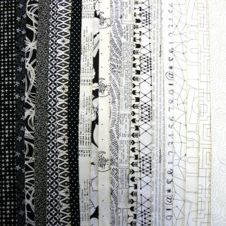 Joli roll de tissus noir et blanc