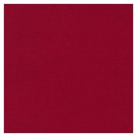 Tissu patchwork uni de Kona - Rouge intense