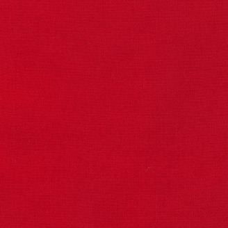 Tissu patchwork uni de Kona - Rouge Tomate