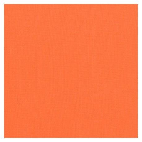 Tissu patchwork uni de Kona - Orangeade