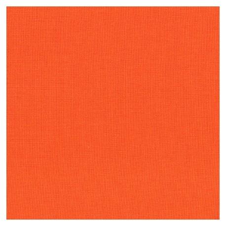 Tissu patchwork uni de Kona - Carotte
