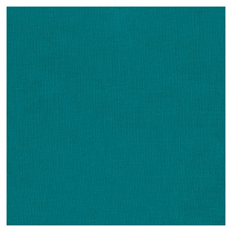 Tissu patchwork uni de Kona - Emeraude