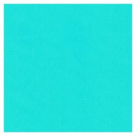Tissu patchwork uni de Kona - Bleu Piscine