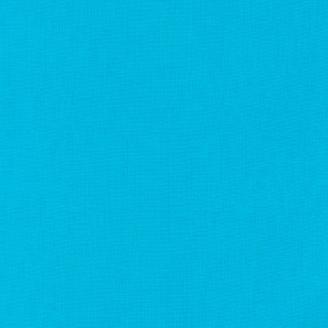 Tissu patchwork uni de Kona - Cyan