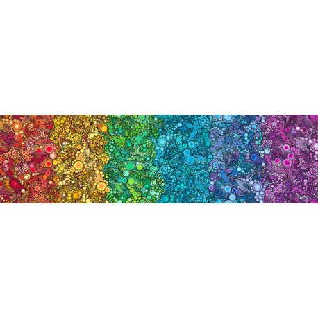 Tissu patchwork bulles en dégradé arc-en-ciel - Effervescence