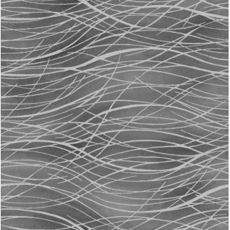 Tissu patchwork herbes métallisées fond gris - Romance