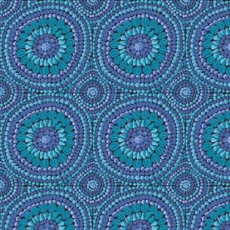 Tissu grande largeur Kaffe Fassett Mandala Bleu GP0032