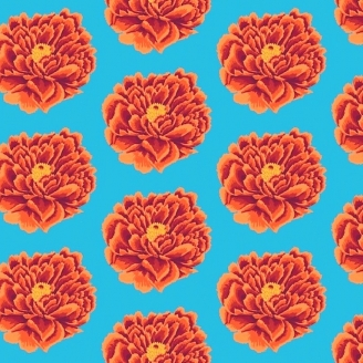 Tissu grande largeur Kaffe Fassett Full Blown Rose GP0042