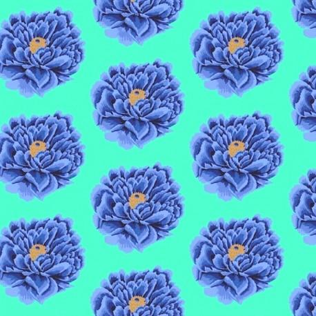 Tissu grande largeur Kaffe Fassett Full Blown Bleu GP0042