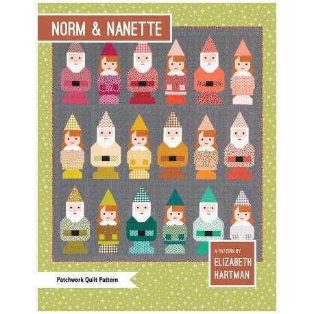 Les Lutins (Norm and Nanette) - Modèle de patchwork d'Elizabeth Hartman (en anglais)