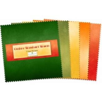 Charm pack de tissus Ombre Washart Warm