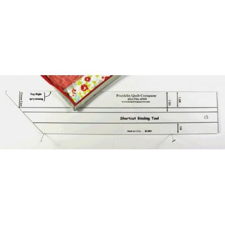 Règle pour la coupe et la pose des biais (Short binding tool)