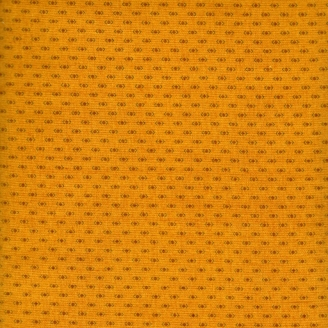 Tissu patchwork mini motif fond jaune curry