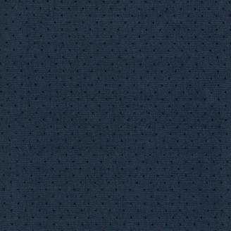 Tissu patchwork minis triangles noirs fond gris ardoise
