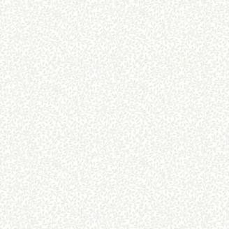 Tissu patchwork feuillage blanc sur blanc