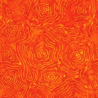 Tissu Batik contours orange