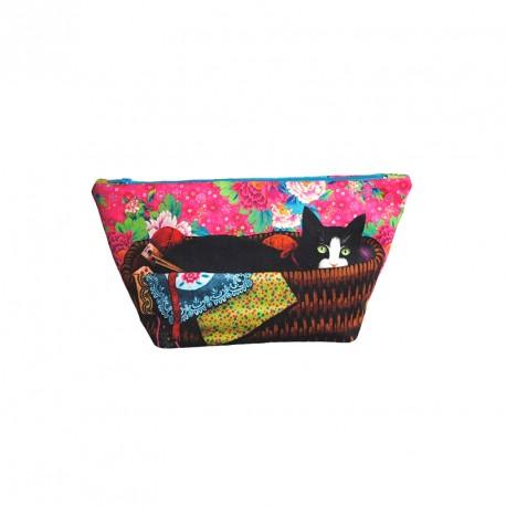 Kit de Trousse de couture - Hercule dans les pivoines