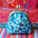 Kit de couture - Porte-monnaie Seringa bleu