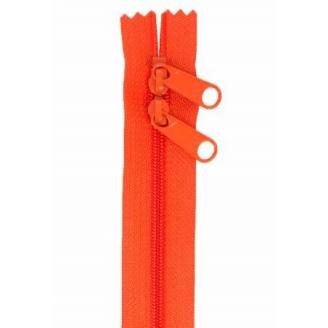 Fermeture à glissière double curseur 76 cm - Orange Tangerine
