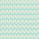 Tissu patchwork pâquerettes blanches fond turquoise - Darling Meadow