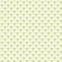 Tissu patchwork éventails blancs fond vert - Darling Meadow