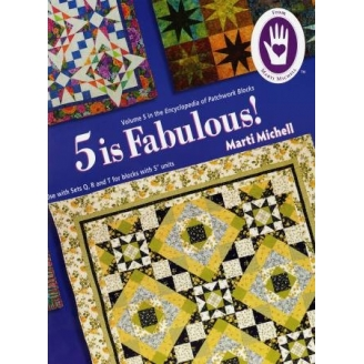 Volume 5 de l'Encyclopédie des blocs de patchwork - 5 is fabulous (en anglais)