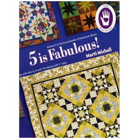 Volume 5 de l'Encyclopédie des blocs de patchwork - 5 is fabulous (en anglais)