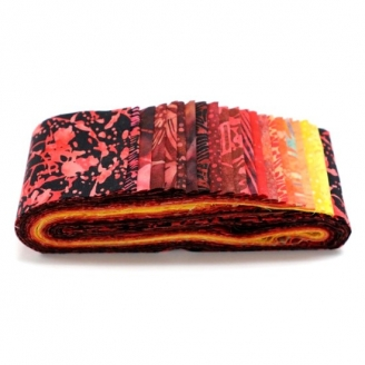 Bandes de tissus batiks Bali Poppy - Lava