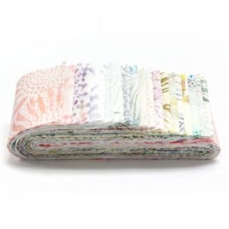 Bandes de tissus batiks Bali Poppy - Pastel Taffy