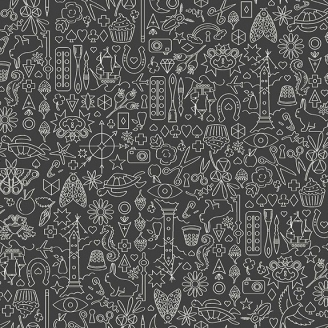Tissu patchwork collection de motifs fond gris anthracite - Sunprints d'Alison Glass