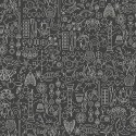 Tissu patchwork collection de motifs fond gris anthracite - Sunprints d'Alison Glass