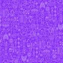 Tissu patchwork collection de motifs fond violet aster - Sunprints d'Alison Glass