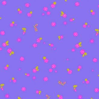 Tissu patchwork fleurs éparses fond violet dream - Sunprints d'Alison Glass