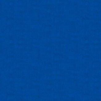 Tissu patchwork faux-uni linen bleu ultramarine