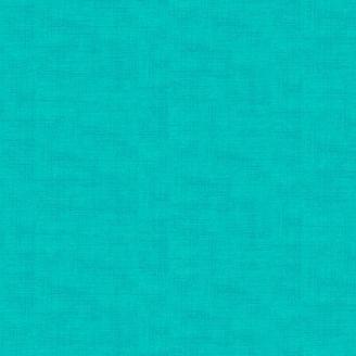 Tissu patchwork faux-uni linen aquamarine