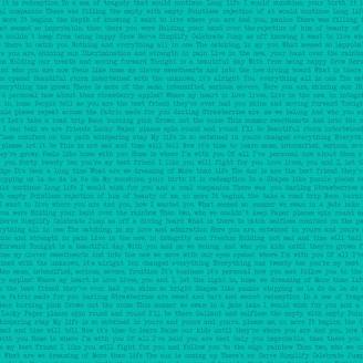 Tissu patchwork écritures fond jade Path Love - Sunprints d'Alison Glass