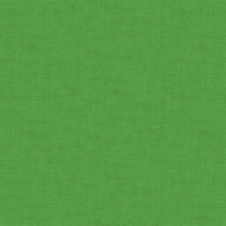 Tissu patchwork faux-uni linen vert trèfle