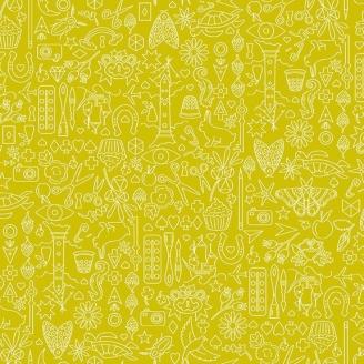 Tissu patchwork collection de motifs fond anis - Sunprints d'Alison Glass