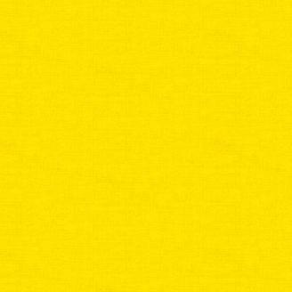 Tissu patchwork faux-uni linen jaune soleil