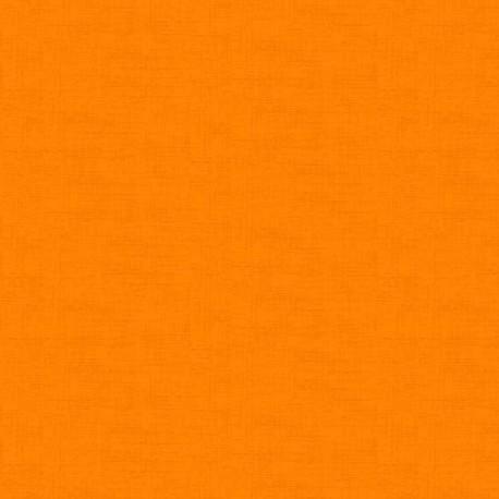 Tissu patchwork faux-uni linen orange