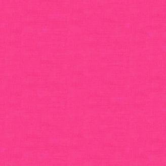 Tissu patchwork faux-uni linen rose azalée
