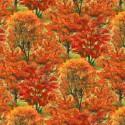Tissu patchwork feuillage automnal