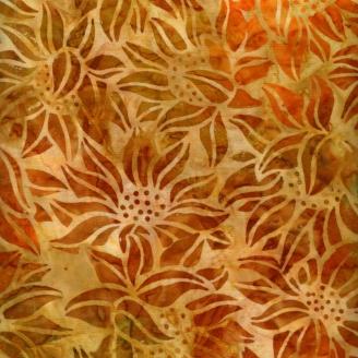 Tissu Batik tournesols ambres