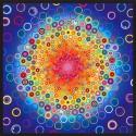 Panneau de tissu patchwork arc-en-ciel Effervescence