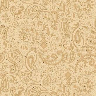 Tissu patchwork grande largeur cachemire crème (10 x 270 cm)