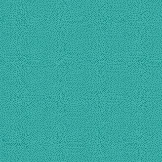Tissu patchwork minis pois fond turquoise - Monsoon