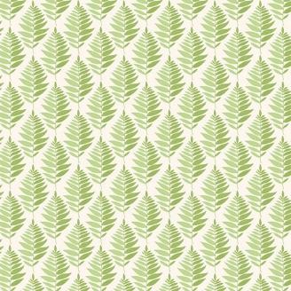 Tissu patchwork fougères fond vert - Fern Garden