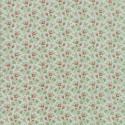 Tissu patchwork classique boutons de fleurs fond bleu brume - Porcelain de 3 Sisters